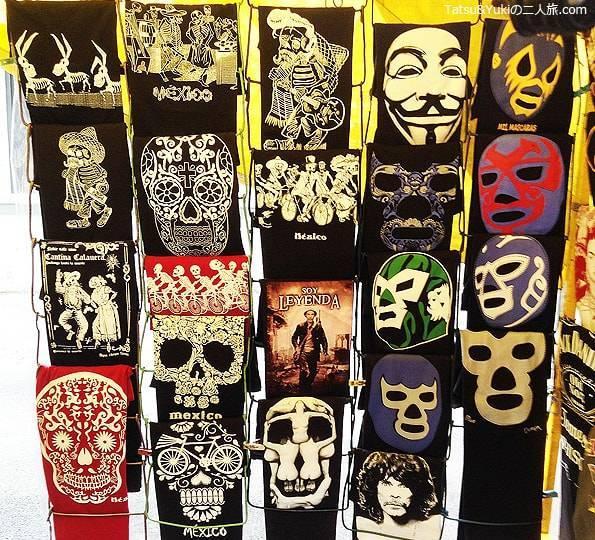 メキシコシティのルチャリブレのTシャツ