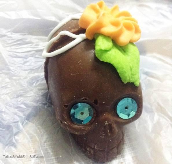 メキシコのガイコツチョコレート