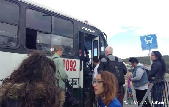 グアナファトのバスターミナルから中心地へ移動できるローカルバス