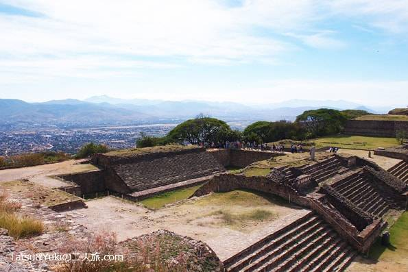 メキシコ・オアハカ・世界遺産のピラミッド「モンテアルバン遺跡」の球戯場