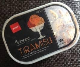 ニュージーランドのティラミス味のアイスクリーム