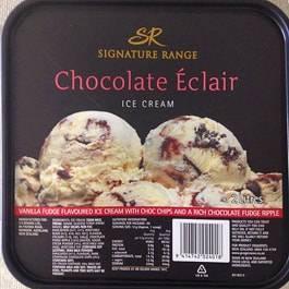 ニュージーランドのエクレア味のアイスクリーム