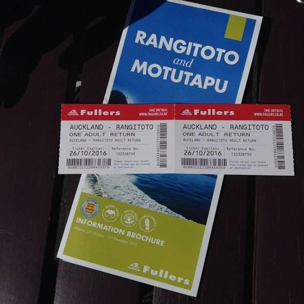 ニュージーランド・オークランド・ランギトト島のチケット