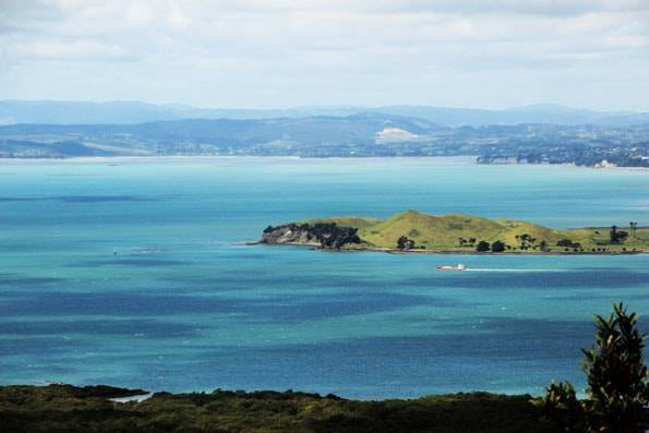 オークランド・ランギトト島からの景色