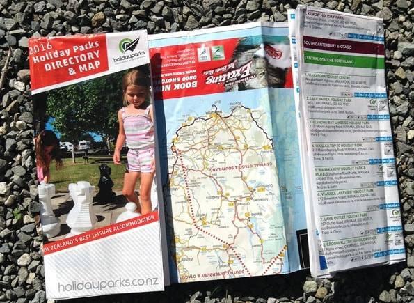 ニュージーランドのホリデーパークの地図