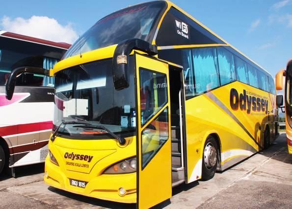 クアラルンプールからシンガポールへ行くバス・オデッセイ