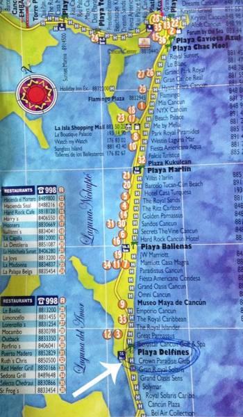 プラヤデルフィネスの場所・地図