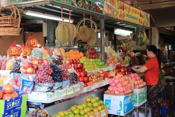 カンボジア・プノンペンのセントラルマーケット