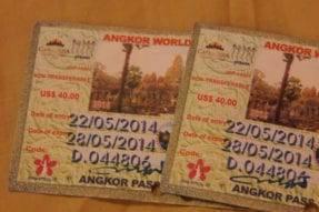 アンコール遺跡群のチケット