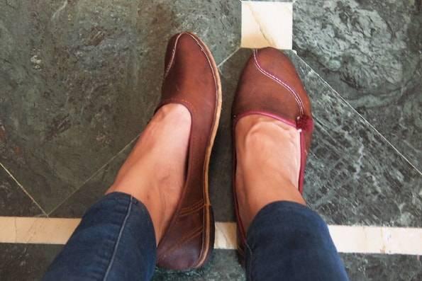 インド・ジャイプールで買ったラクダの革の靴