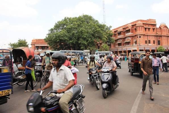 インド・ジャイプールの街中