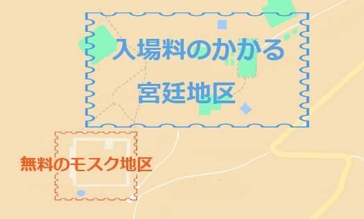 インド・アーグラの世界遺産「ファテープル・シークリー」の地図