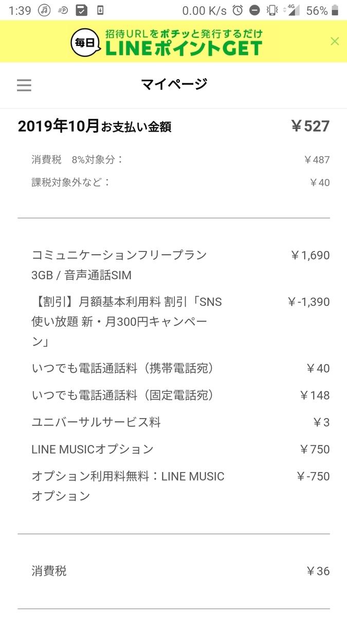 ライン ミュージック 料金