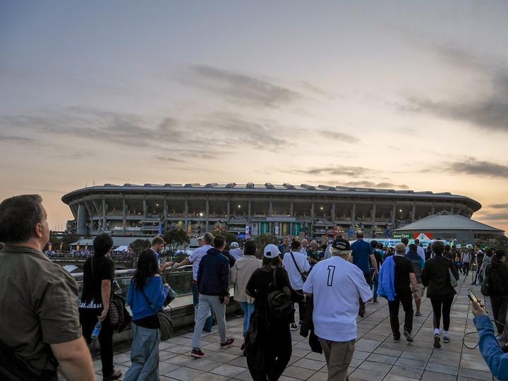 ラグビーW杯決勝戦が横浜総合国際競技場で開催