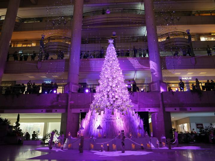 ランドマークプラザ クリスマスツリー 2019年 降雪イベント