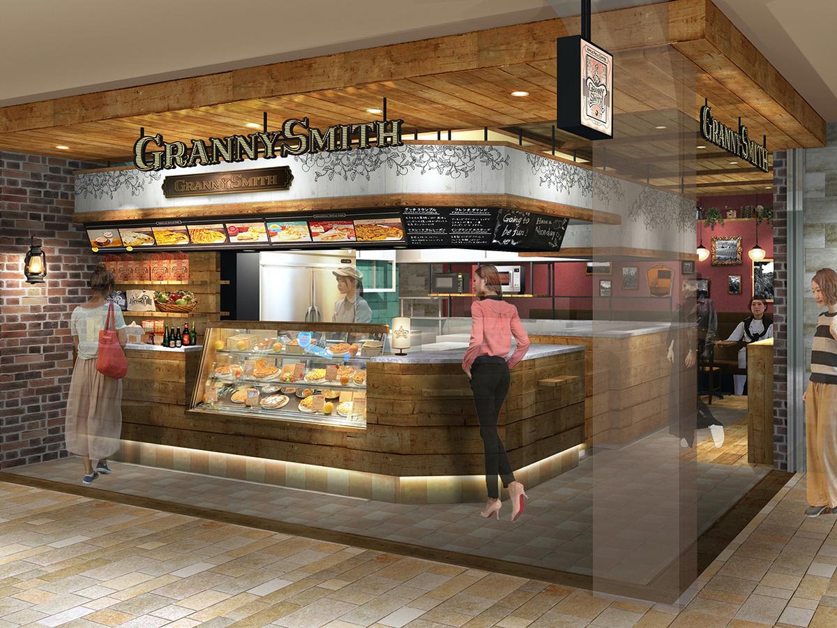 グラニースミス アップルパイ アンド コーヒー CIAL横浜店 イメージパース(画像提供:グラニースミス)