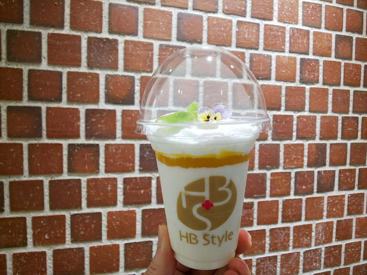 杏仁ムース(390円、マンゴーソース+メープルエスプーマ)