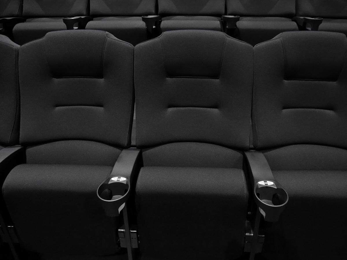 反射しない素材を使った特別仕様の座席(2020年6月22日撮影)