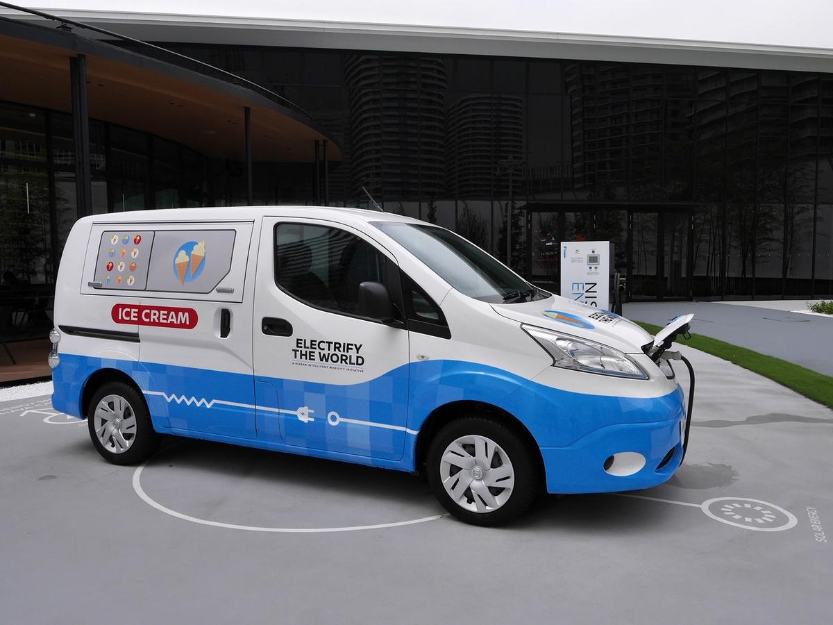 100%電気で稼働するアイスクリーム移動販売車のコンセプトカー「Sky to Scoop」