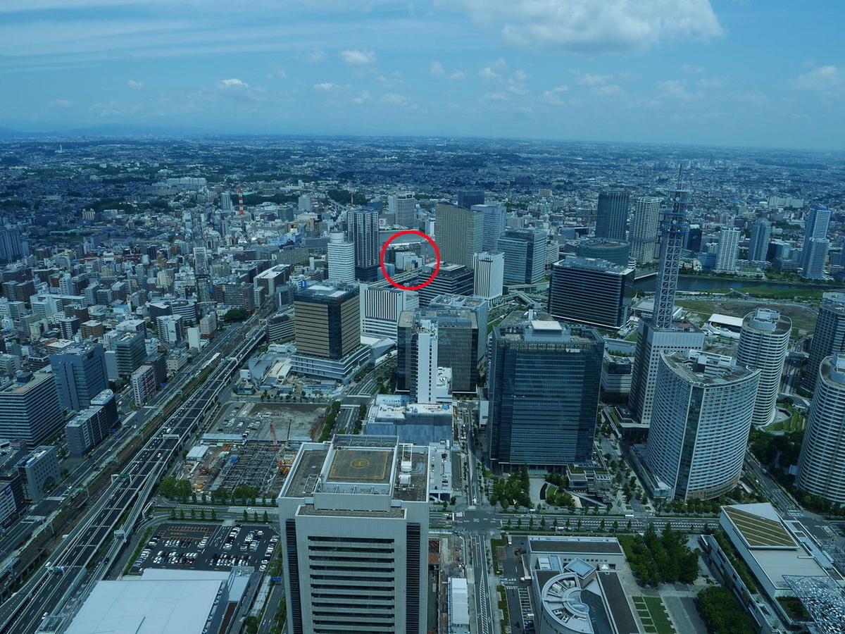スカイガーデンから横浜駅