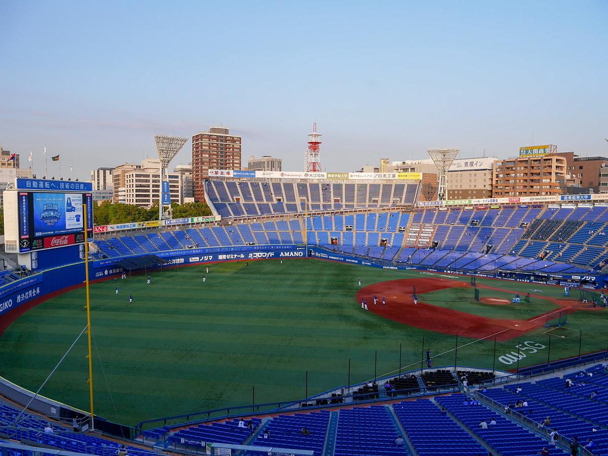 横浜スタジアム レフトウイング席からの眺め