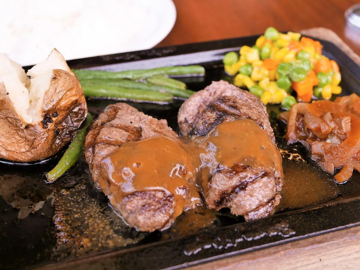 ハングリータイガー「オリジナルハンバーグステーキ」
