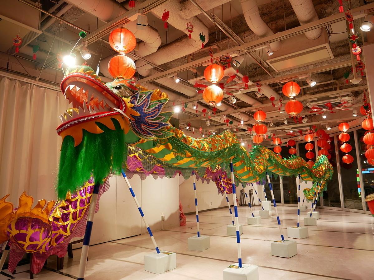 インフォメーション・センター「ChinaTown80」には龍舞が展示されています