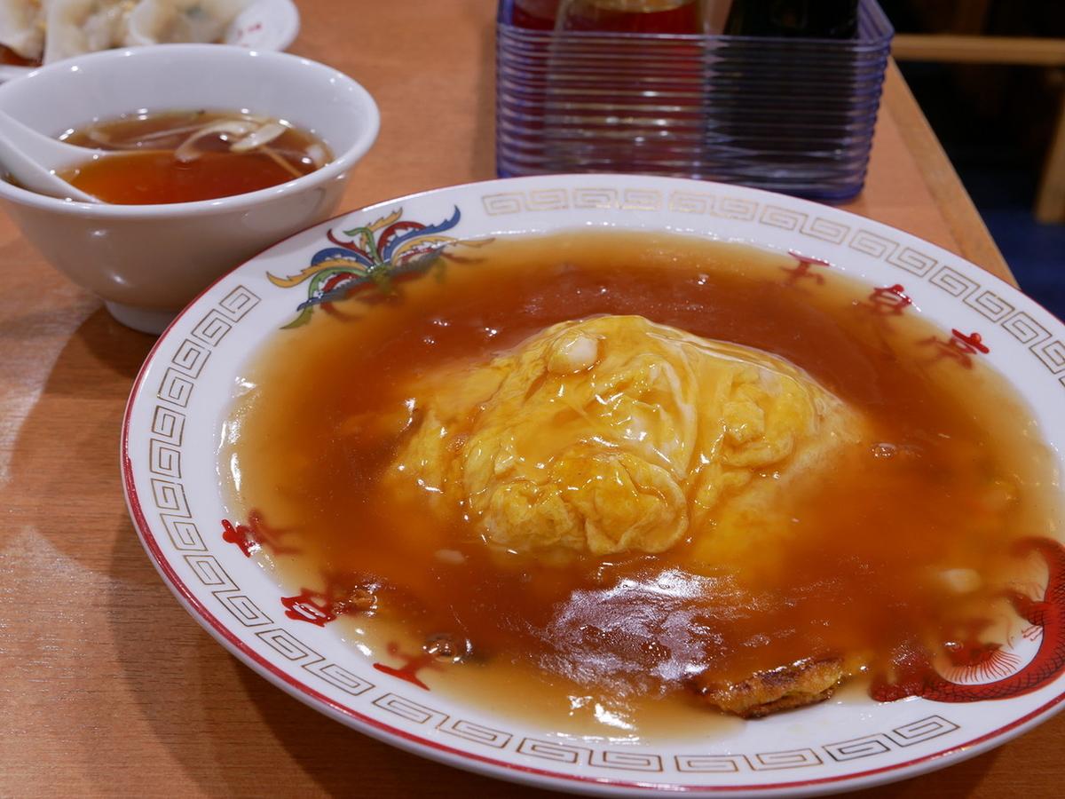 天津丼(スープ付、890円税込)