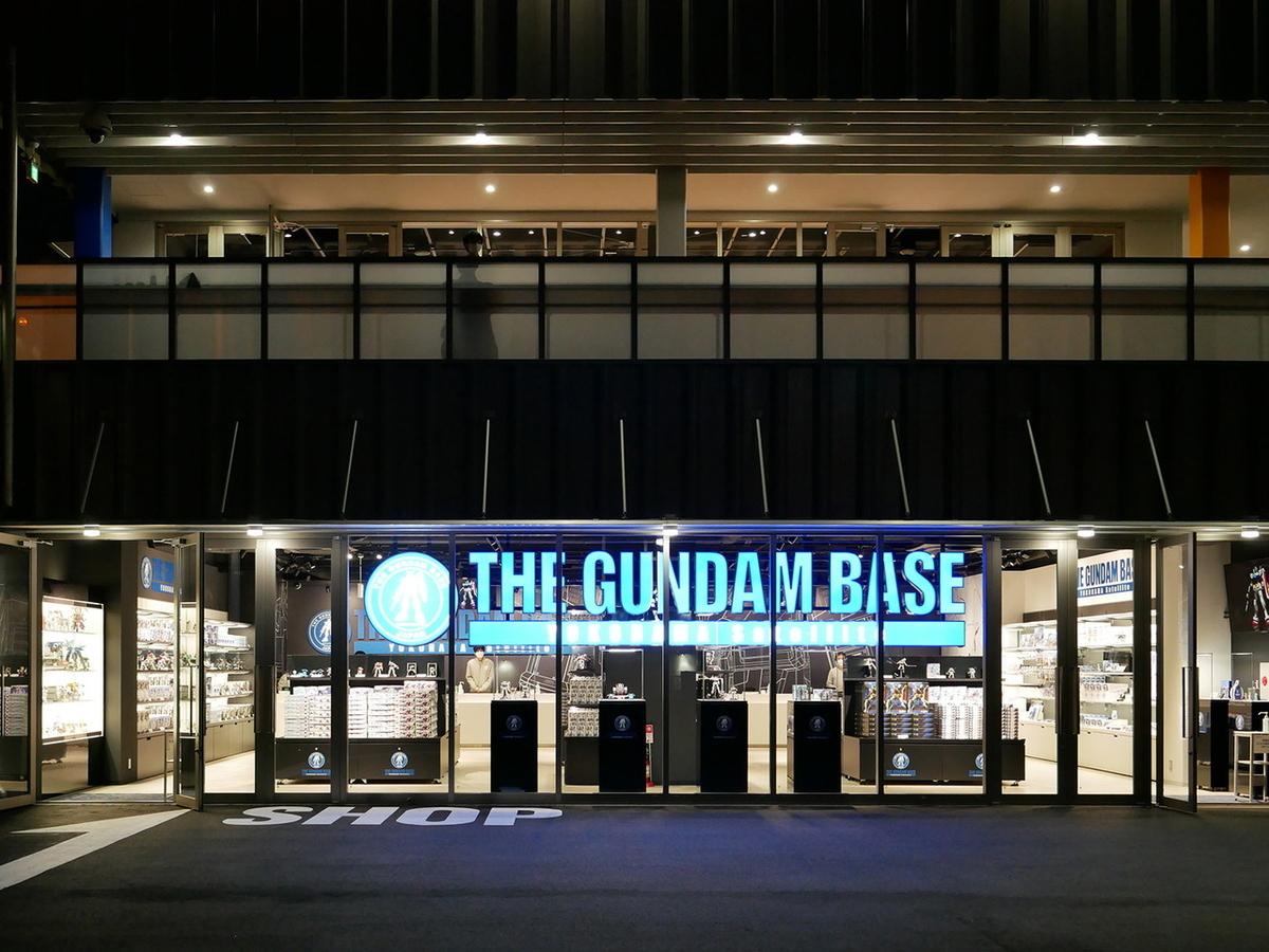 ショップ「THE GUNDAM BASE YOKOHAMA Satellite」外観