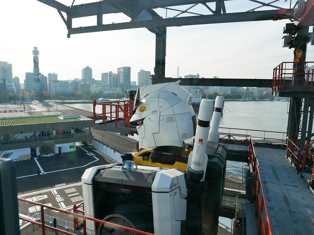 GUNDAM-DOCK TOWER(6階)からの眺望