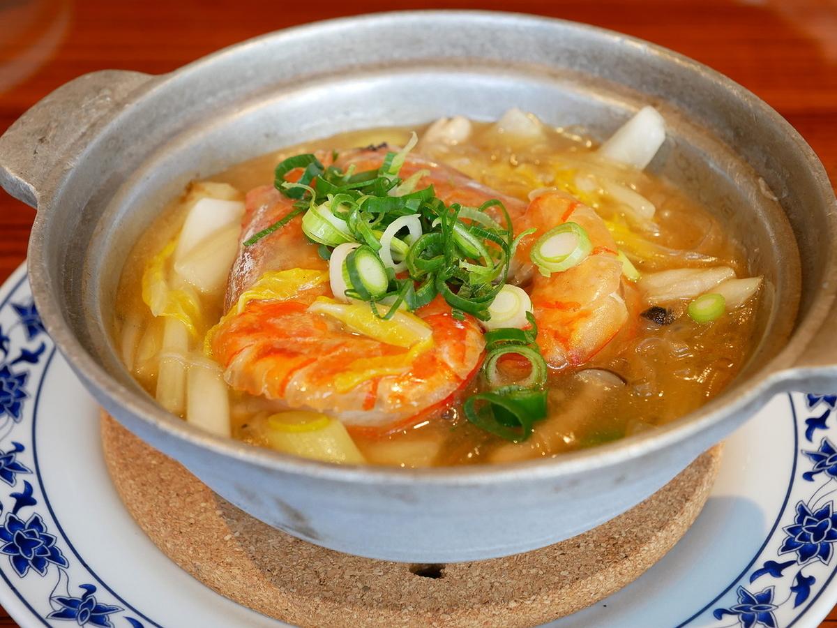 海老と白菜、春雨の煮込み
