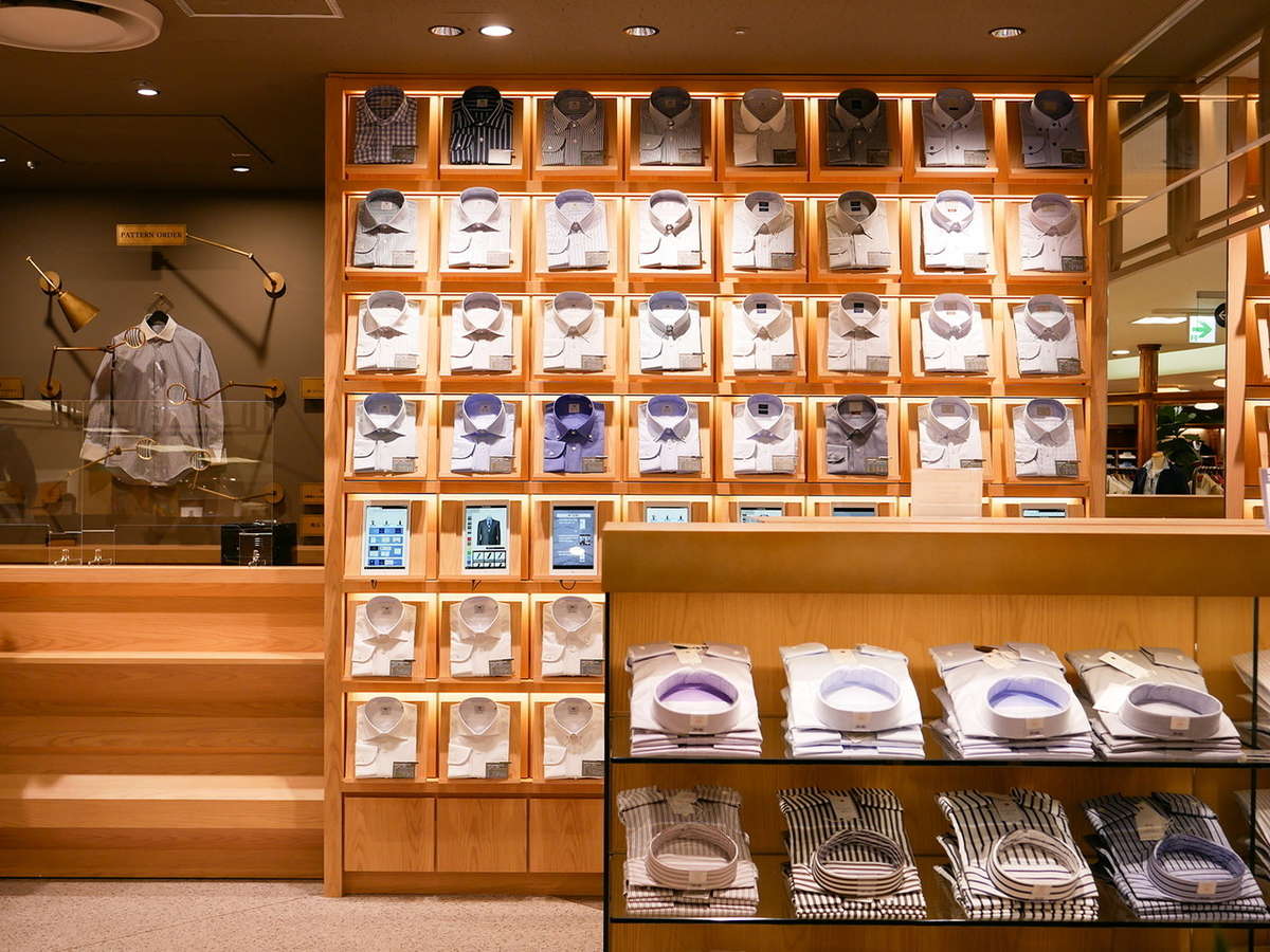 そごう横浜店 5階紳士フロア ワイシャツ売り場