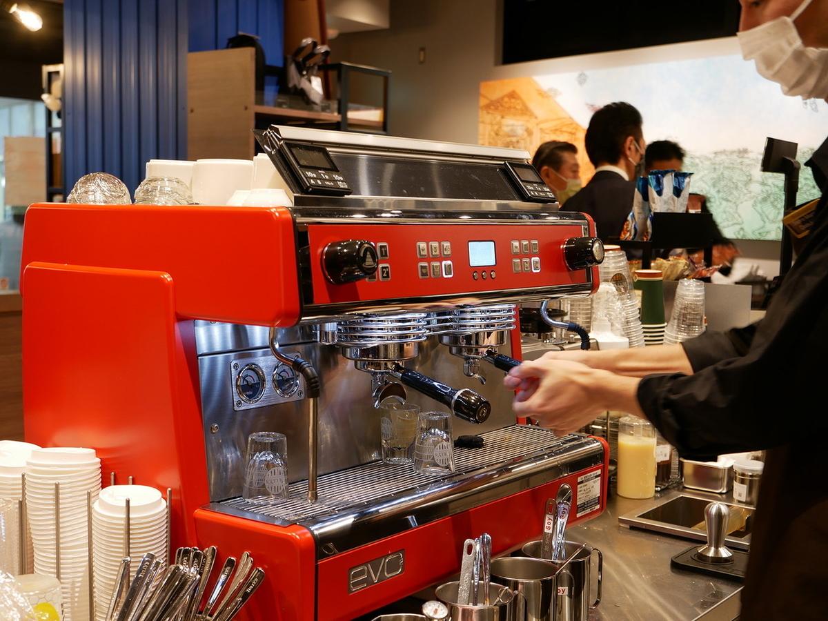 タリーズコーヒー エスプレッソマシン