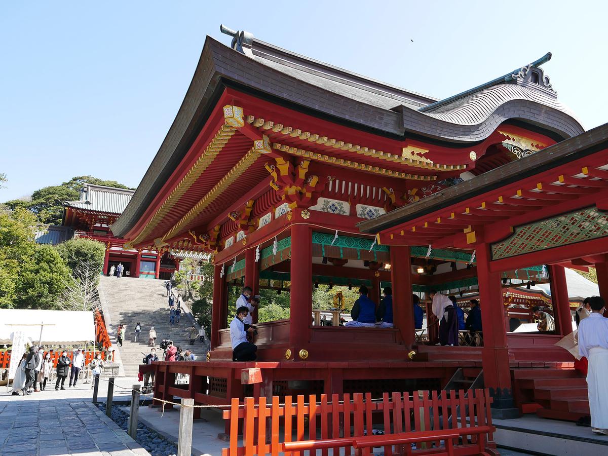 鎌倉・鶴岡八幡宮での必勝祈願