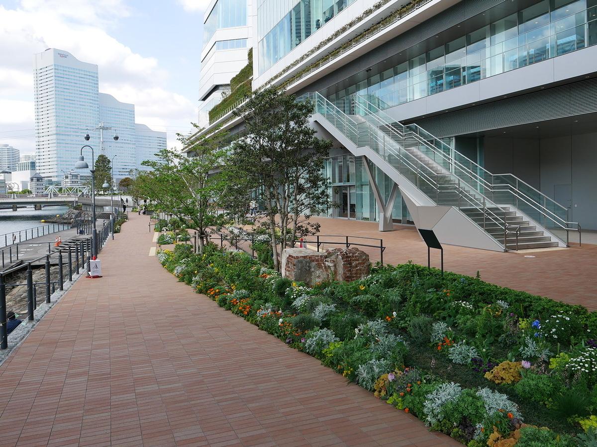横浜市役所周辺(2021年4月6日撮影)