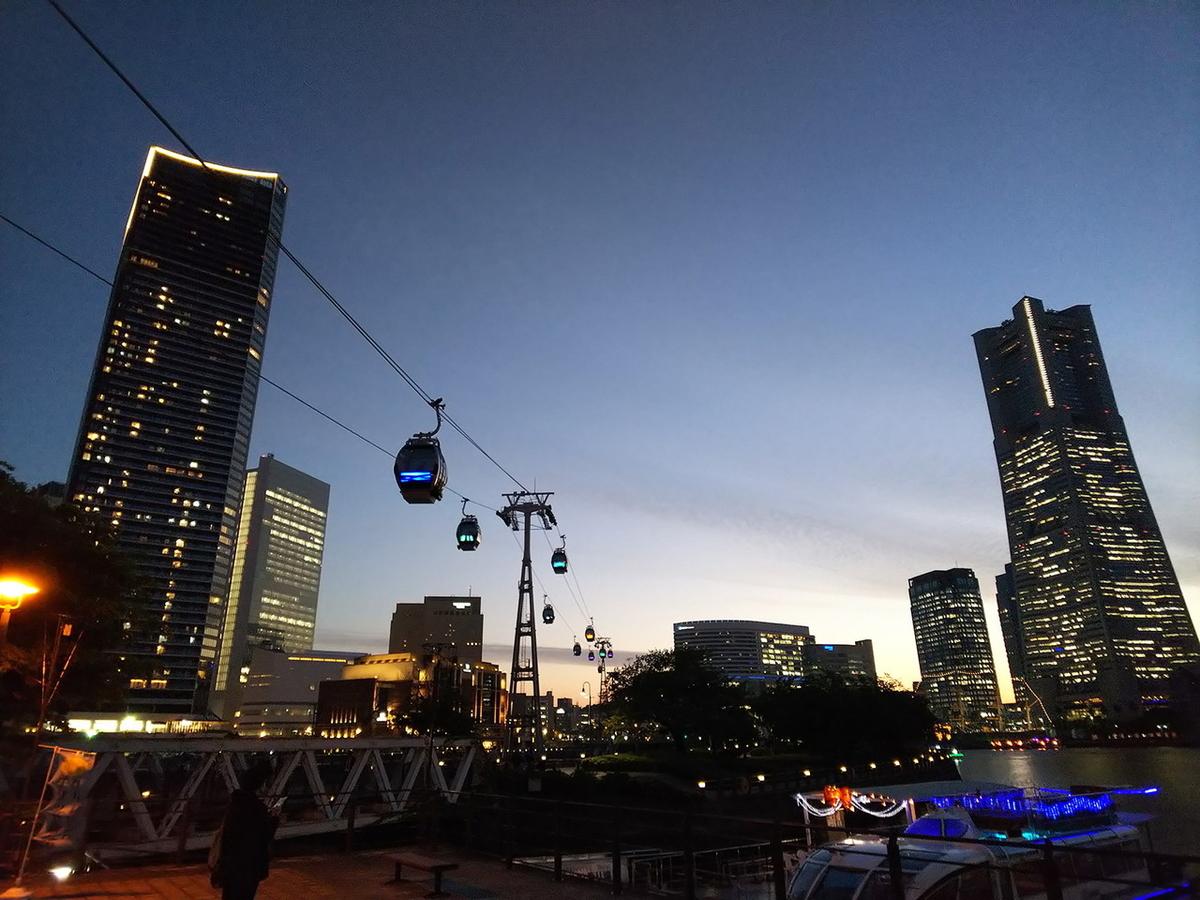 横浜ロープウェの夜景
