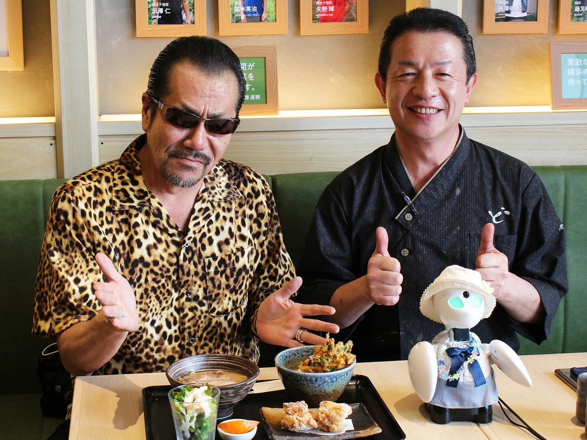 横浜銀蝿の翔さん(左)と椿シェフ(右)