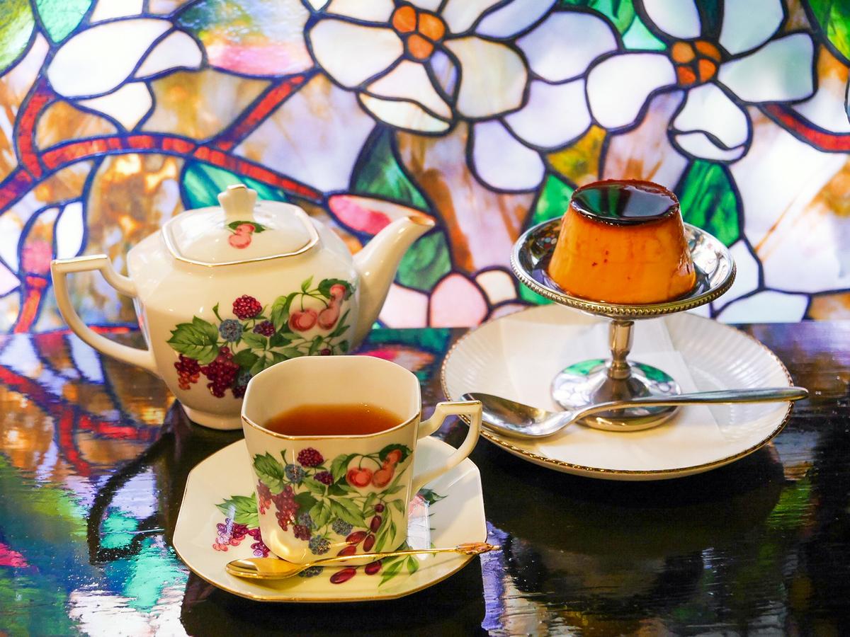 プリン、紅茶