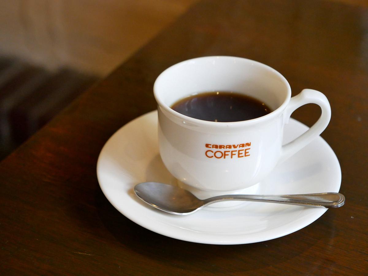 ランチにはコーヒー(あるいは紅茶)がつきます。キャラバンコーヒーでした