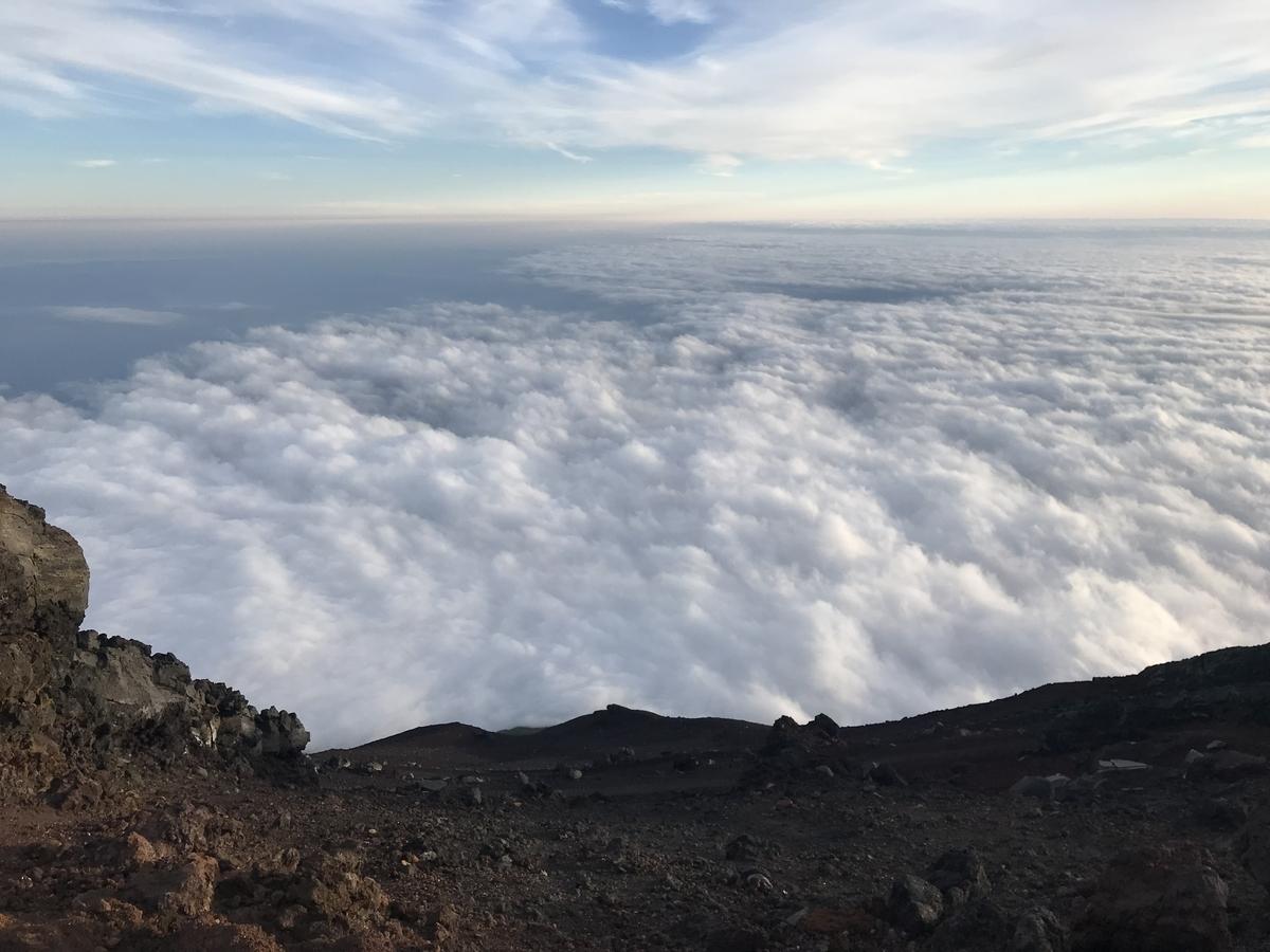 富士山頂上の雲海