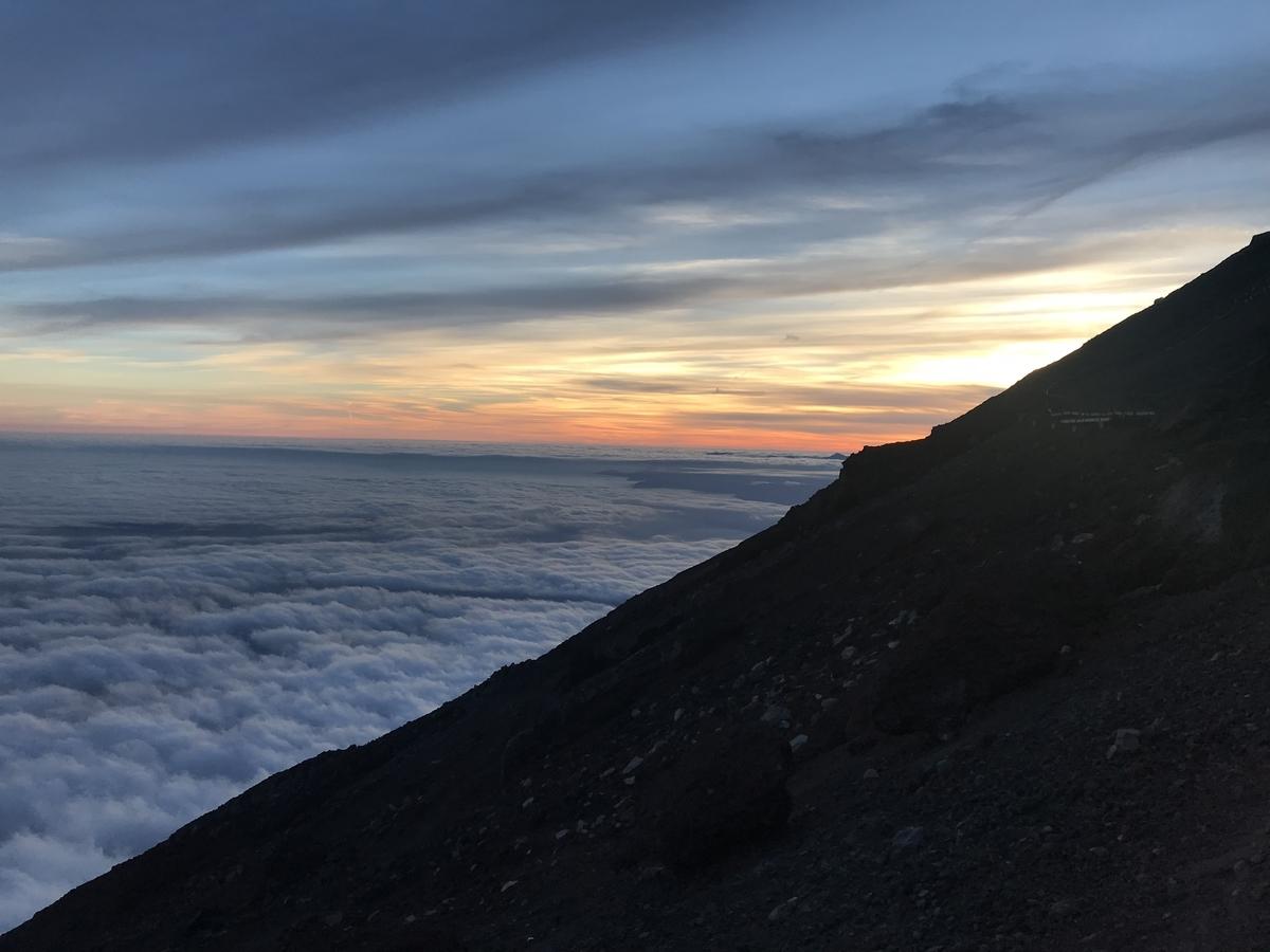 剣ヶ峰からの日の入り