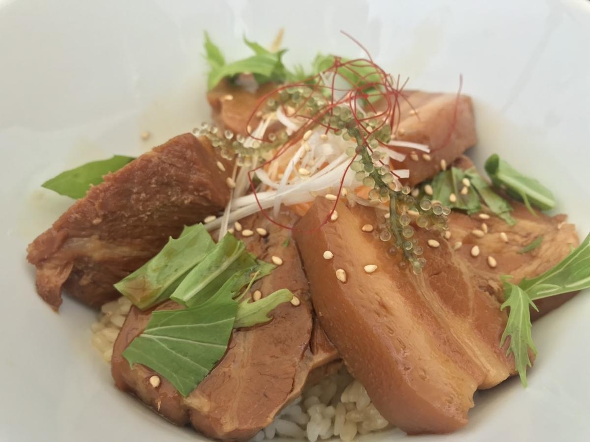 チャハヤブランのラフテー丼(ラフテー大盛)