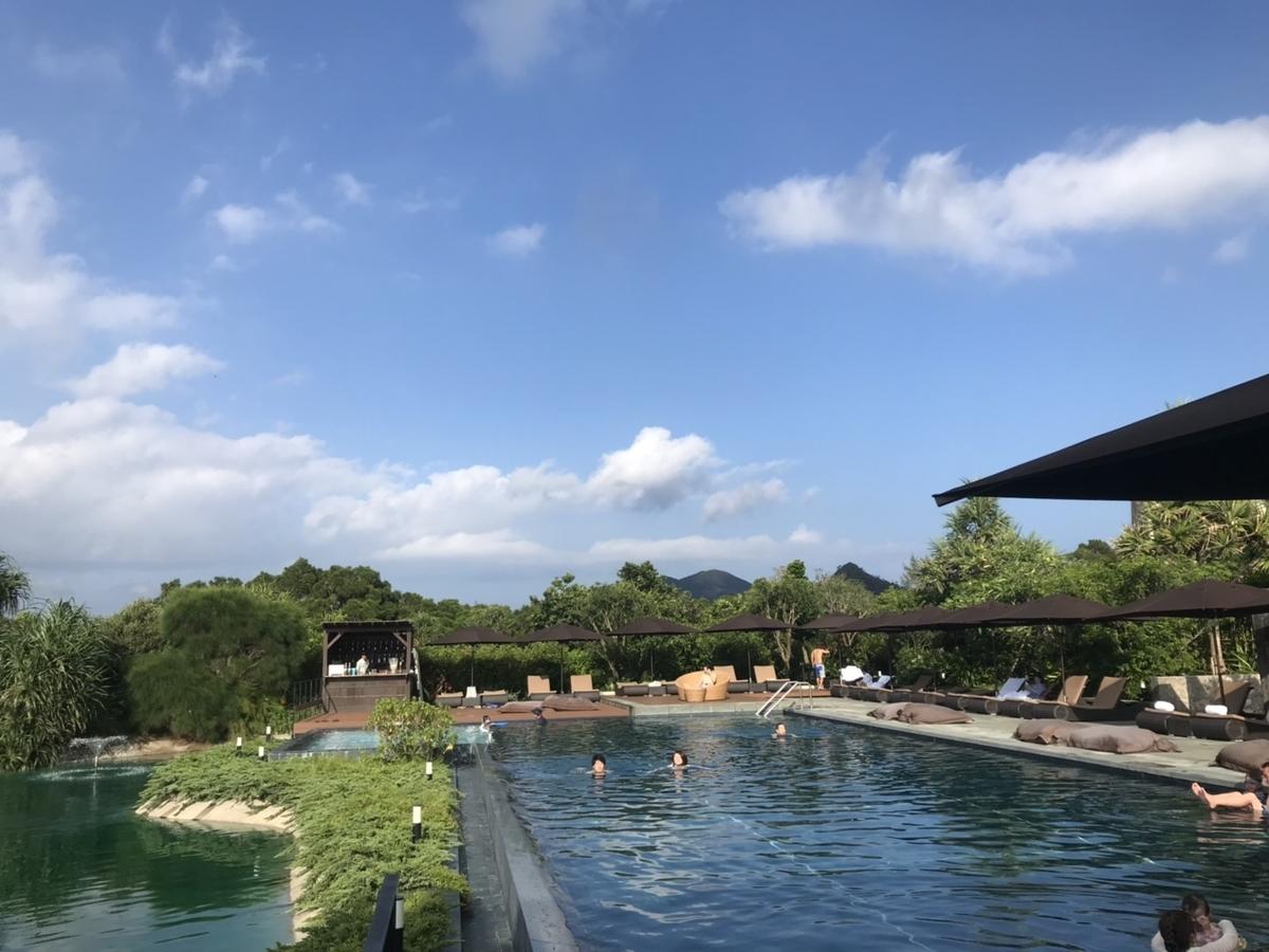 屋外プール in ザ・リッツ・カールトン沖縄