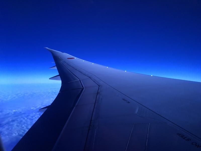飛行機(青)