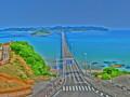 [角島大橋][山口県][下関市][豊北町][海][sea][bridge][HDR][ハイダイナミックレン]