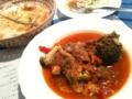 渋谷でトルコ料理なう。日替りは野菜と挽肉の煮込み。