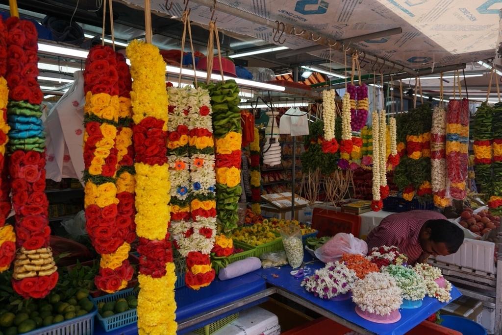 シンガポール リトルインディア お花
