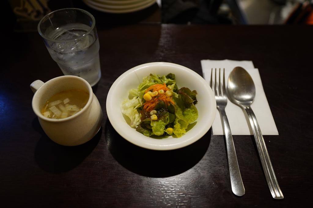 ダブリンルームカフェ サラダ スープ