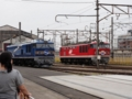 [JR][鉄道][train] 赤青並びはぁはぁ