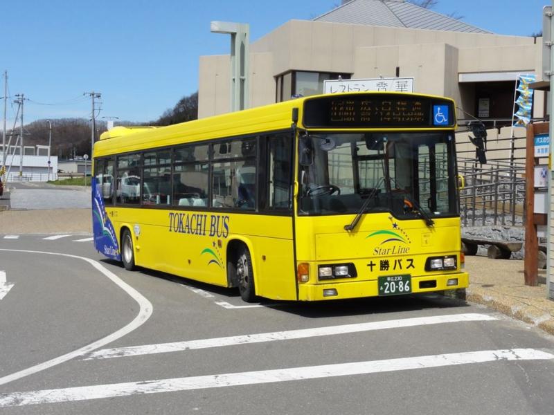 十勝バスの銀河線代替バス専用車、あ2086